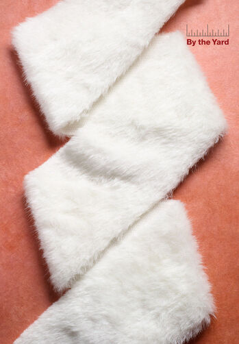 "4"" White Faux Fur with Iridescent"