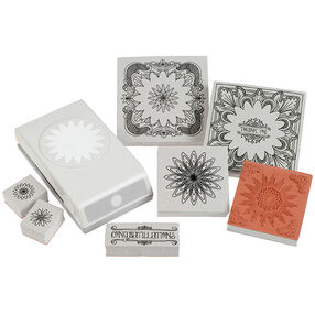 Floral Doodle Stamp and Punch Set_54-92005