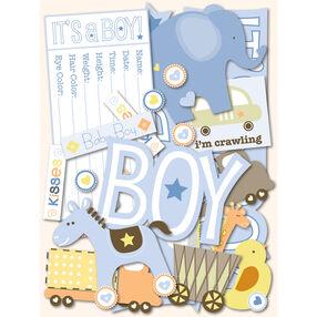 Itsy Bitsy Baby Boy Die-Cut Cardstock_30-591820