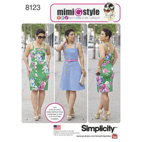 Simplicity Pattern 8123 Misses' and Plus Size Dresses from Mimi G Style
