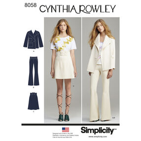 Simplicity Pattern 8058 Misses' Suit Separates, Cynthia Rowley Collection