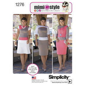 Simplicity Pattern 1276 Misses' and Miss Petite Knit Dress from Mimi G Style