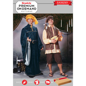 Simplicity Pattern EA592501 Premium Print On Demand Costume Pattern