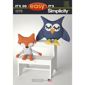 It's So Easy Pattern 1270 Stuffed Owl and Fox