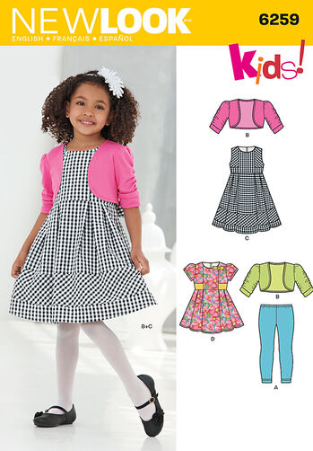 Child's Dress or Top, Knit Leggings and Bolero