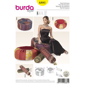 Burda Style Pattern 6881 Creative, Doll Clothes, Accessories