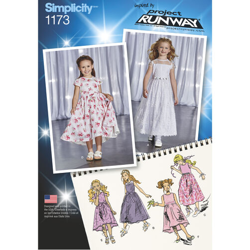 Simplicity Pattern 1173 Child's Project Runway Dresses