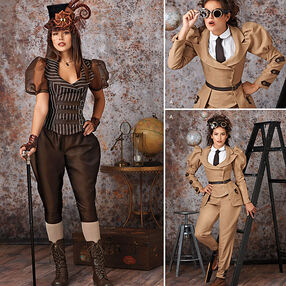 Pattern 8114 Misses' Steampunk Costumes