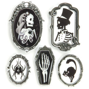 Black & White Cameo Stickers_50-21793