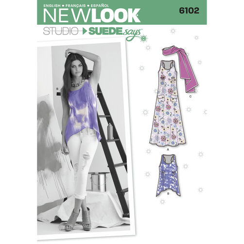 New Look Pattern 6102 Misses' Tops or Dresses. New Look Studio by SUEDEsays