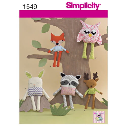 Simplicity Pattern 1549 Stuffed Animals