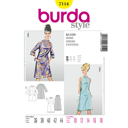Burda Style Pattern 7114 Dress