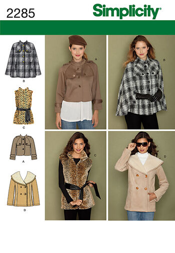 Simplicity Pattern 2285 Misses' Jackets