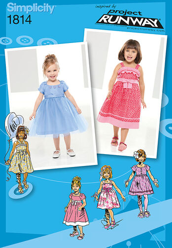 Simplicity Pattern 1814 Toddler's & Child's Dresses Project Runway Collection