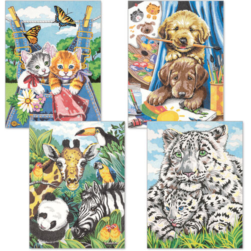 Friendly Animals, Pencil by Number, Set of 4_91337