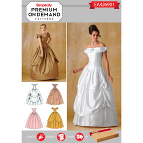 Simplicity Pattern EA426901 Premium Print on Demand Misses' Gown