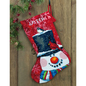 Snowman and Friends Stocking, Needlepoint_71-09146
