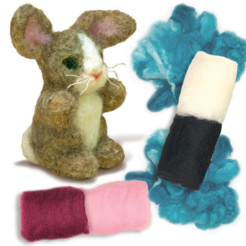 Bunny Needle Felting Characters, Set of 2_148099