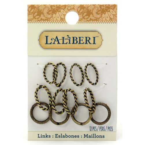 Brass Oval and Circle Links Set_56-16108