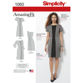 Simplicity Pattern 1060 Misses' & Plus Size Amazing Fit Dress