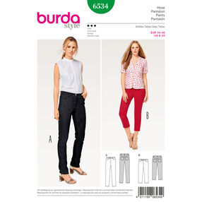 Burda Style Pattern B6534 Misses' Pants