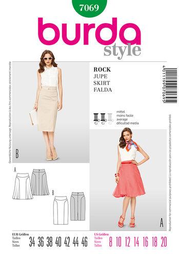 Burda Style Pattern 7069 Skirt