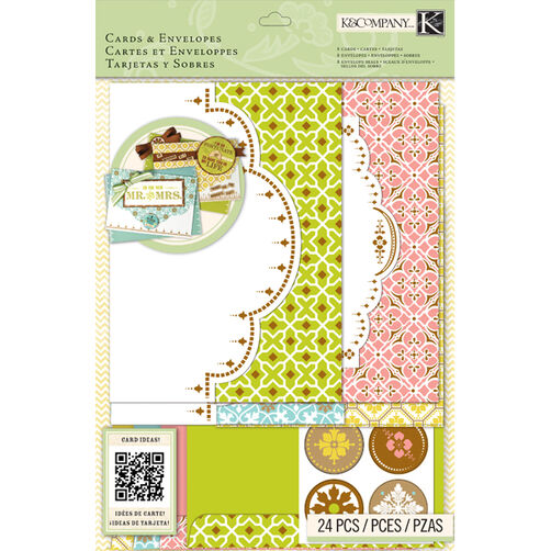 K&Company Beyond Postmarks Letterpress Die-cut Cards & Envelopes_30-658134