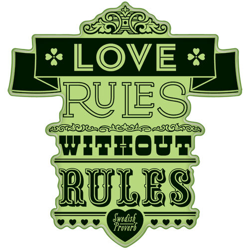 Love Rules Proverb Cling Stamp_60-60326