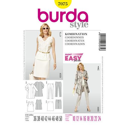 Burda Style Pattern 7075 Coordinates