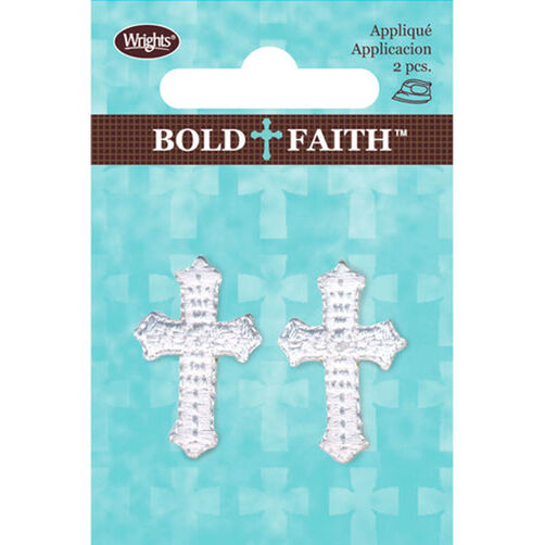 Mini Cross Iron-On Applique Set of 2