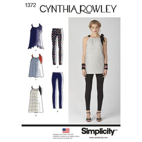 Simplicity Pattern 1372 Misses' Sportswear Cynthia Rowley Collection