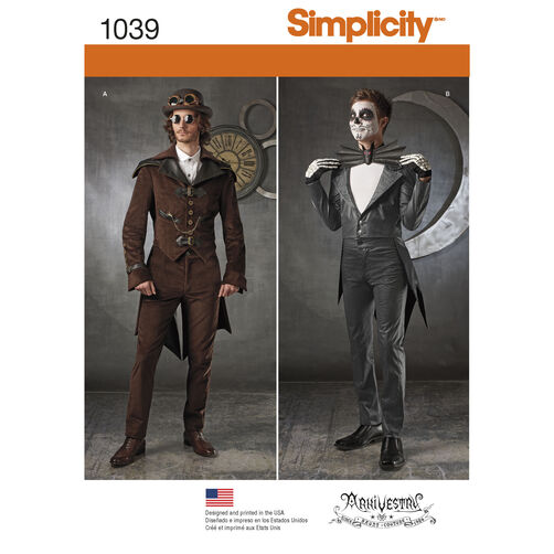 Simplicity Pattern 1039 Men's Cosplay Costumes
