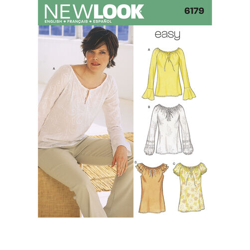 New Look Pattern 6179 Misses Tops