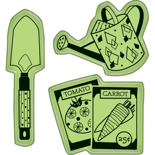 Garden Veggie Icons Mini Cling Stamps_60-60229