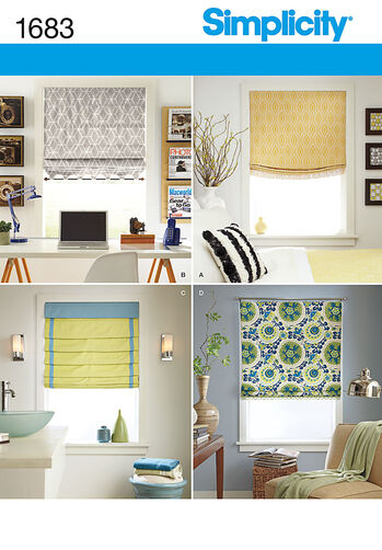 Roman Shades in 4 Styles