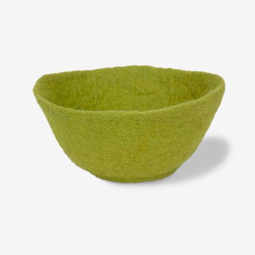 Medium Green Wool Felt Bowl_72-73669