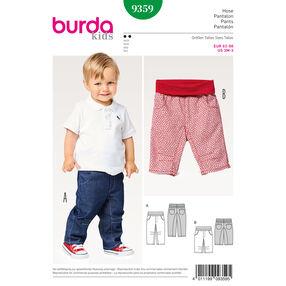 Burda Style Pattern B9359 Baby Elastic Waistband Pants