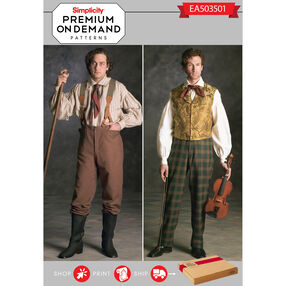 Simplicity Pattern EA503501 Premium Print On Demand Costume Pattern