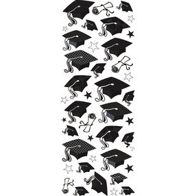 Graduation Hat Puffy Stickers_53-90004