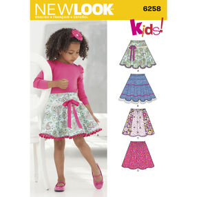 New Look Pattern 6258 Child's and Girls' Circle Skirts
