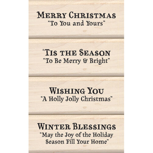 Christmas Sentiments Wood Stamp Set_60-10125