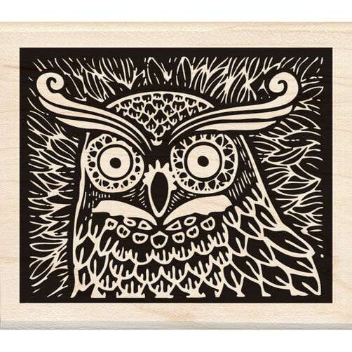 Owl Wood Stamp_60-00967