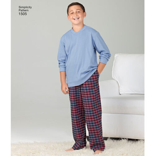 Pattern for Husky Boys' & Big & Tall Men's Tops and Pants