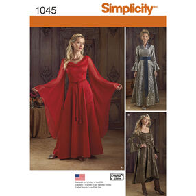 Simplicity Pattern 1045 Misses' Fantasy Costumes