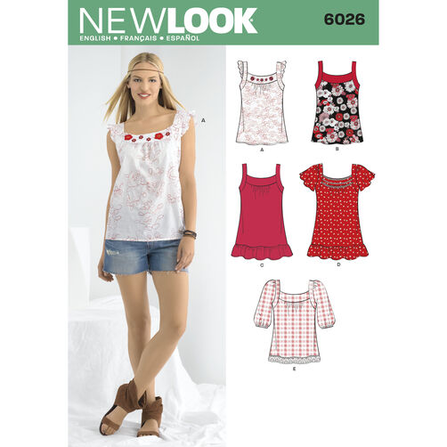 New Look Pattern 6026 Misses' Tops