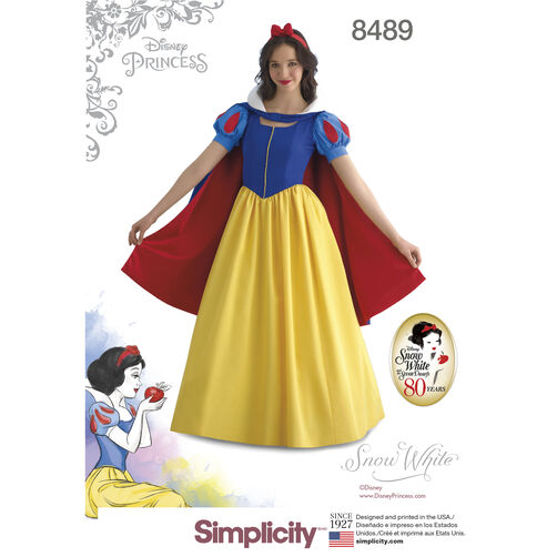 Simplicity Pattern 8489 Misses' Snow White Costume
