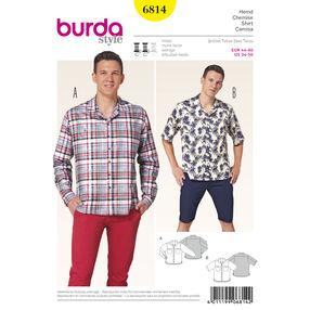 Burda Style Pattern 6814 Menswear, Sportswear
