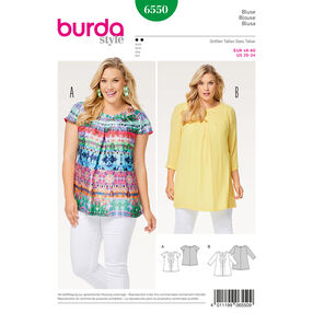 Burda Style Pattern B6550 Women's Pleated Blouse