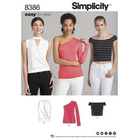 Simplicity Pattern 8386 Misses' Knit Top