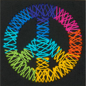 Peace Sign Yarn Art, Embroidery_72-74204